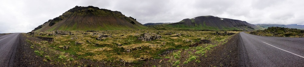 The Snaefelles Peninsula in Iceland, in June