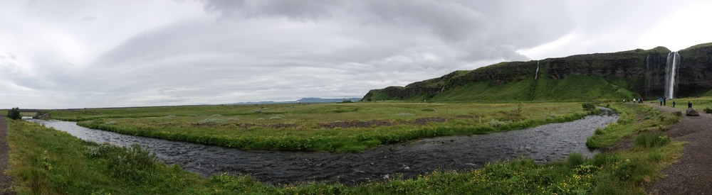 Outside of Reykjavik, Iceland in June