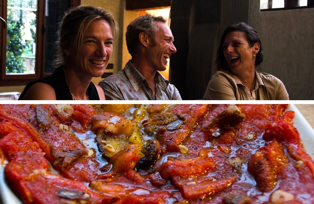 Venice cooking class — roasted peppers