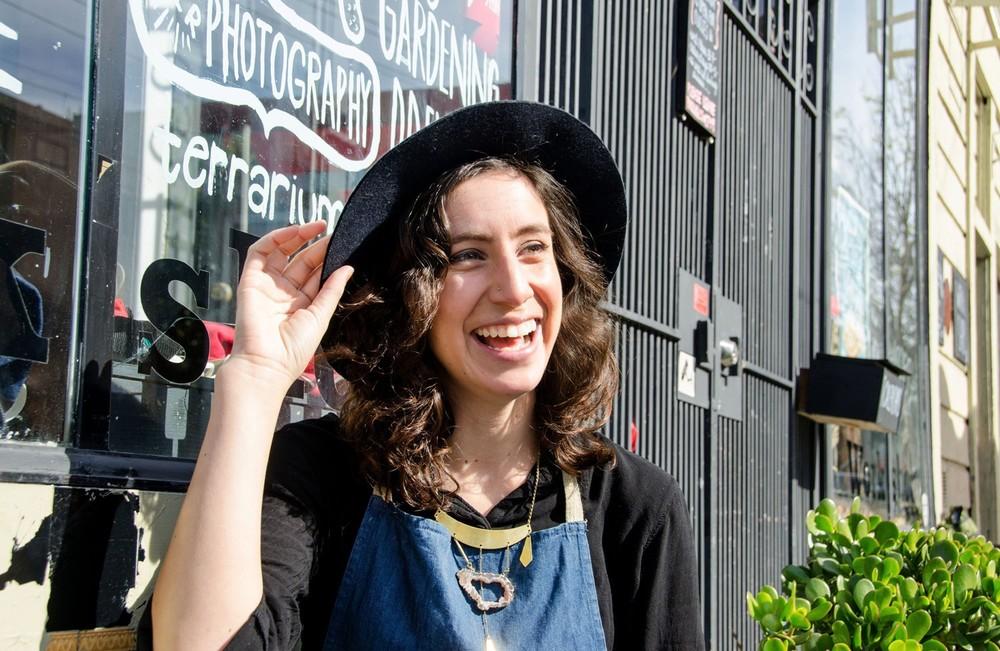 Lorena outside of the studio (STiBN)
