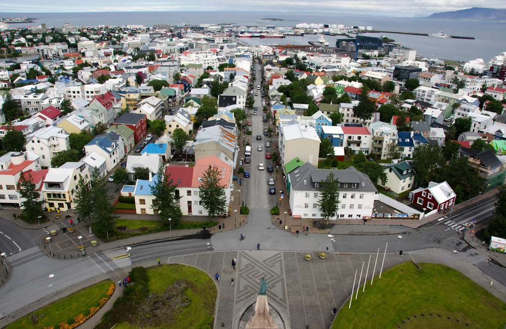 Reykjavik from above. If you looked reeeeaaaally hard and knew what you were looking for, you could see omnom from here.