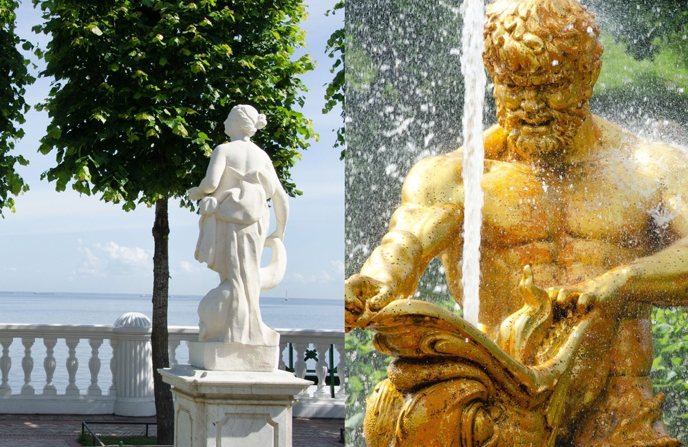 The statues of Peterhof