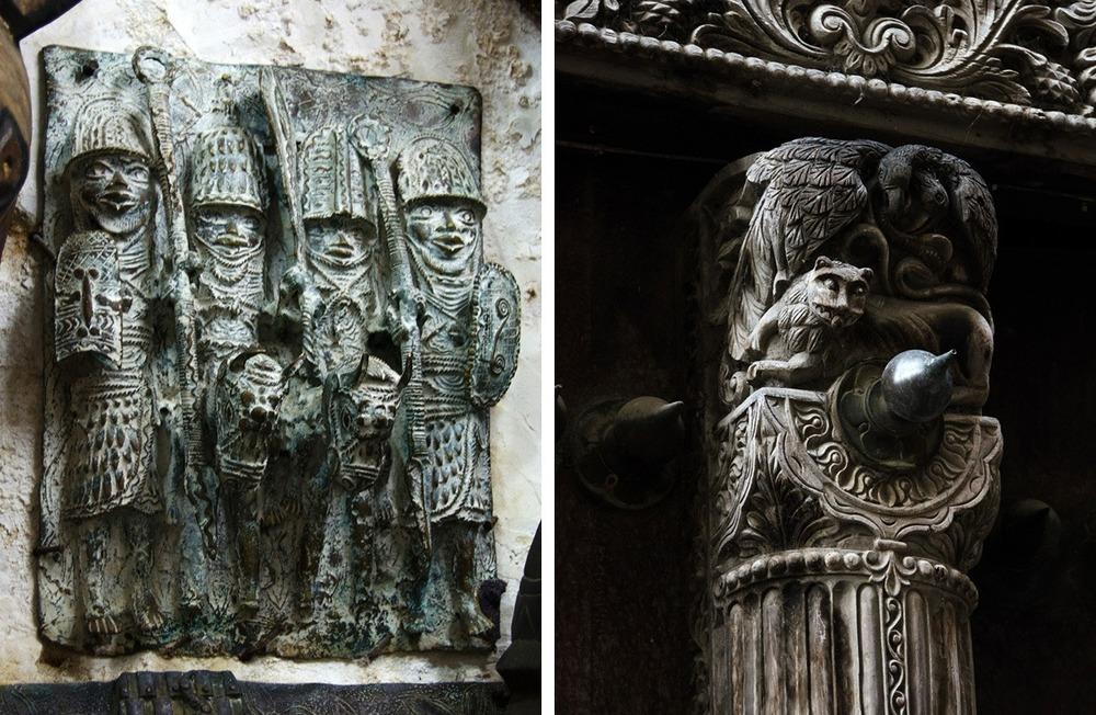 Sculpture and bas-relief in Zanzibar(via smallthingsinbignumbers.com)