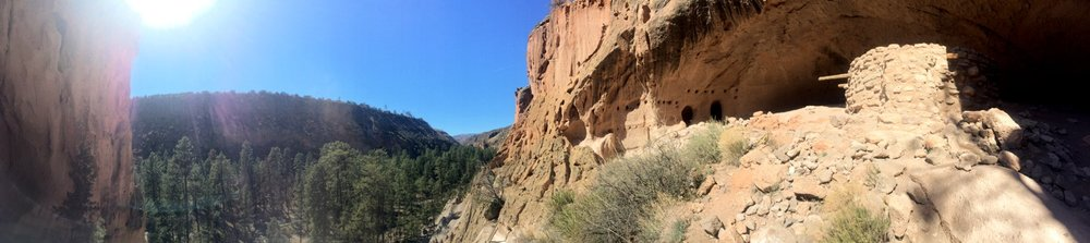 Bandelier National Park in March