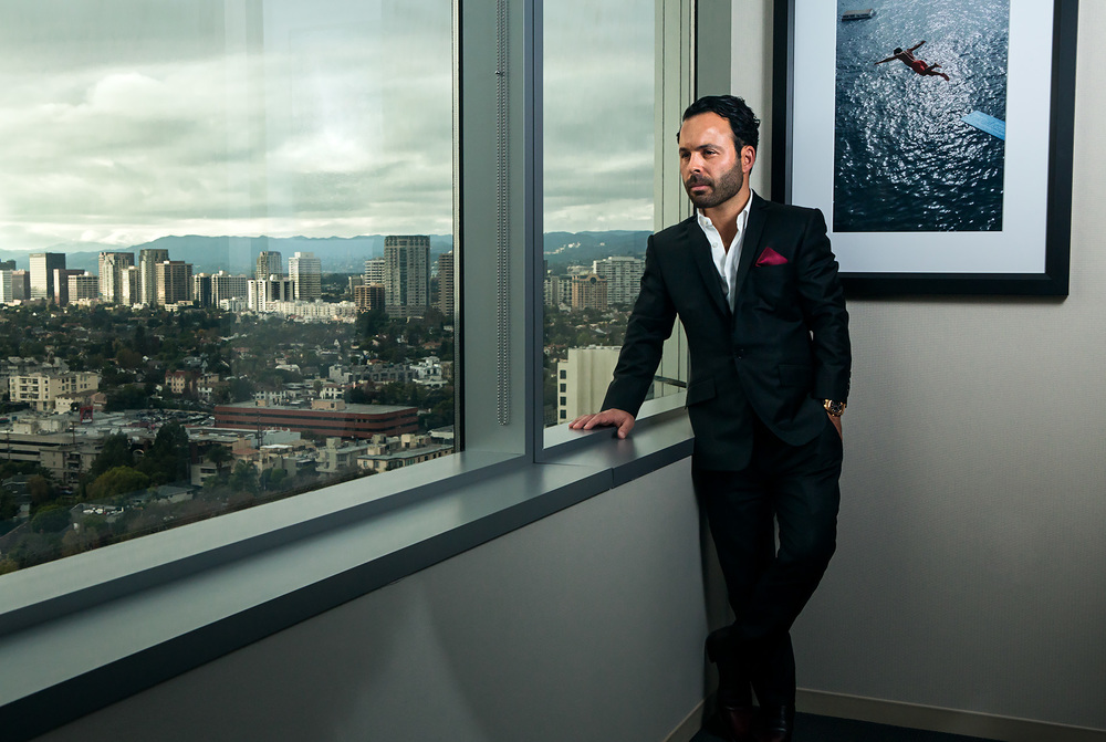 Dec, 16, 2014 - Los Angeles, California, U.S. - Portrait of Andrew Nikou, who is the founder, Managing Partner and CEO of OpenGate Capital, a global private Buyout firm. 