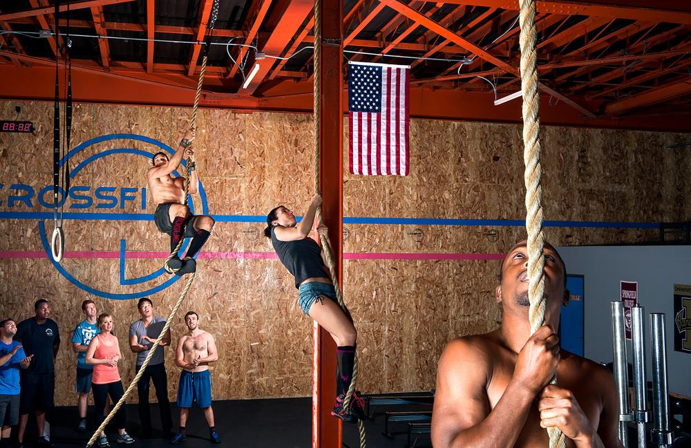 Images shot for CrossFit Radius in Long Beach, CA.