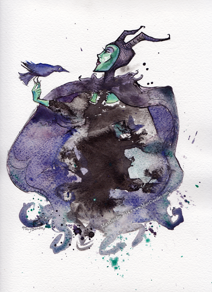 Maleficent Inkblot