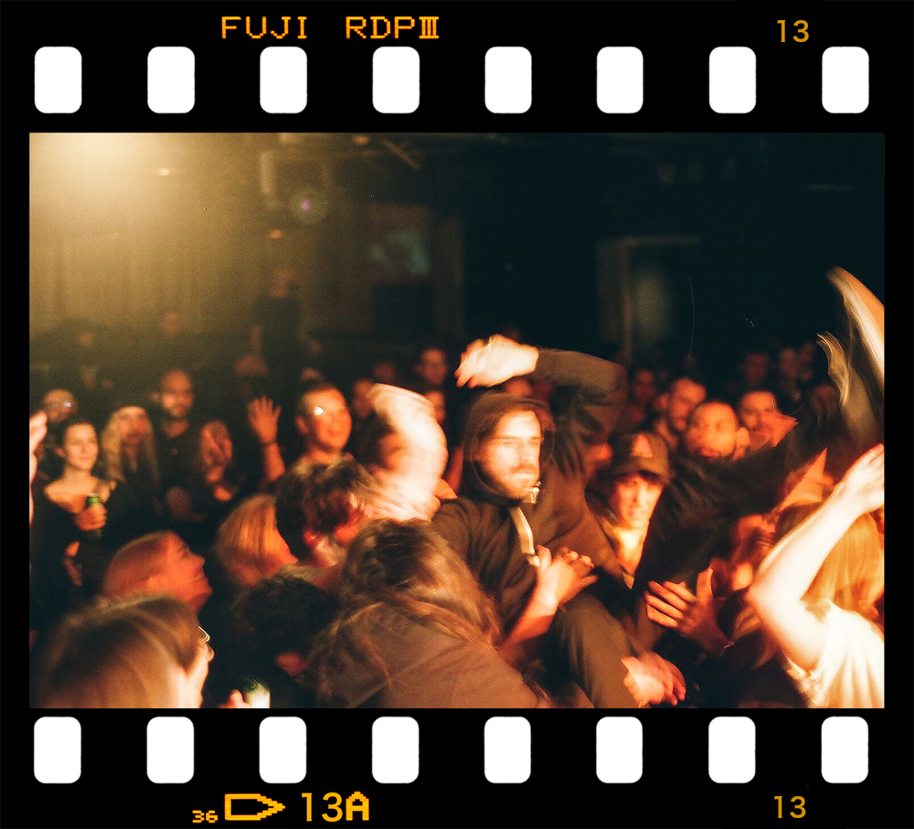3B Photo Solids Indie Music Concert Photography Toronto Fuji Superia 400 Stage Dive