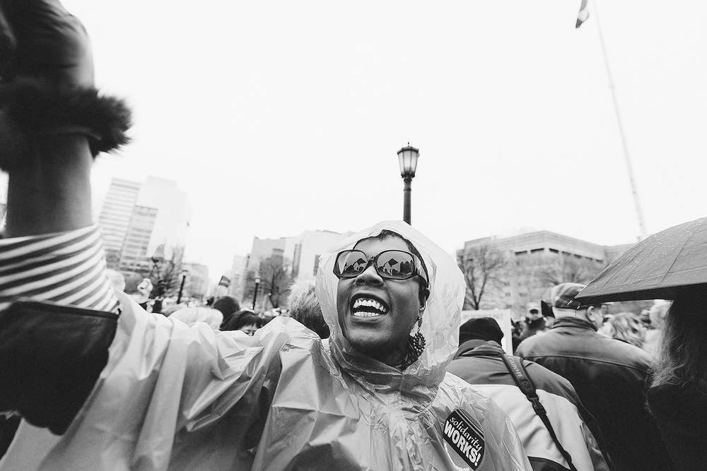 Woman Protestor OPS Toronto Photographer