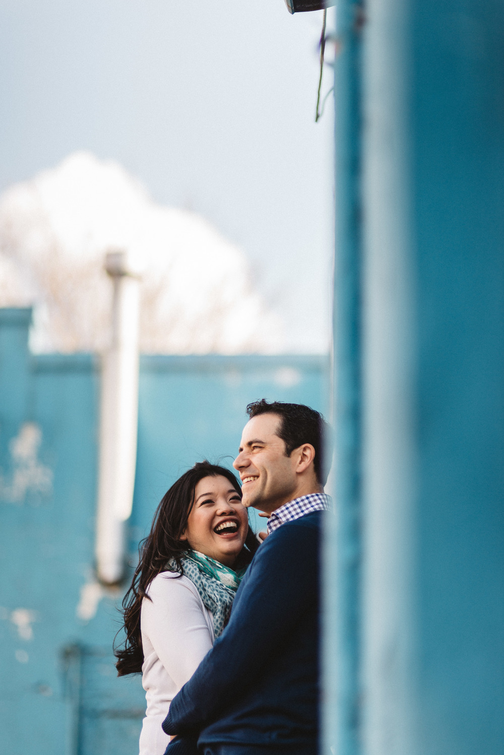 Cute couple at engagement shoot in Toronto, Canada