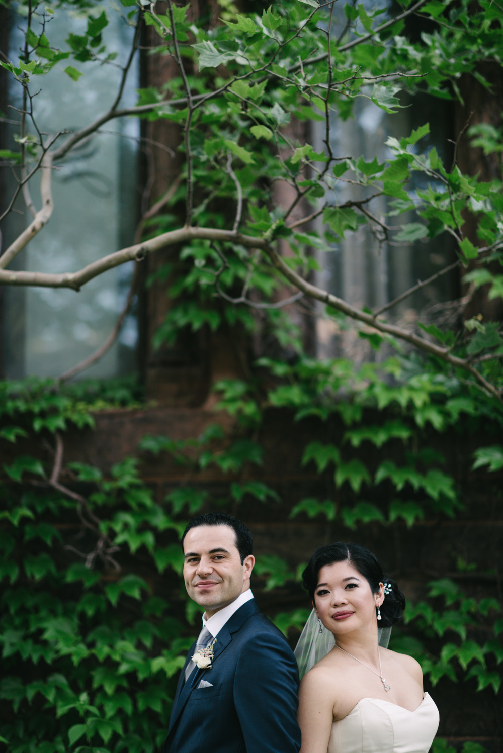 Beautiful bride and handsome groom portrait by 3B Photography