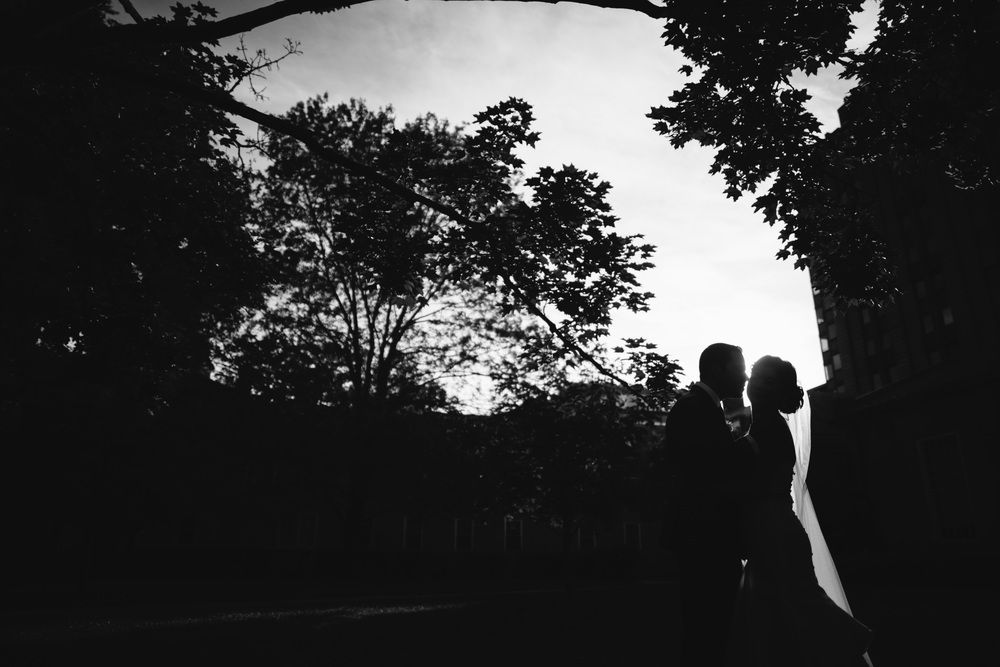 Dramatic silhouette portrait by Toronto Wedding Photographers