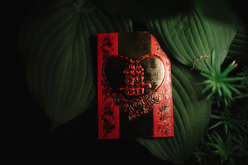 Red envelope, chinese wedding tradition