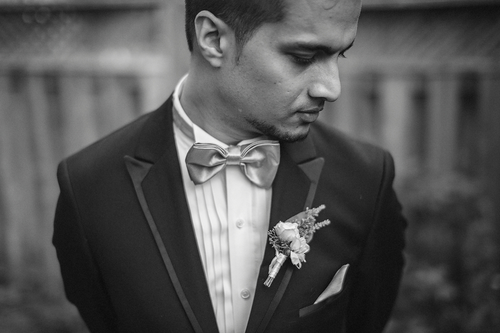 Dramatic classic portrait of the Groom