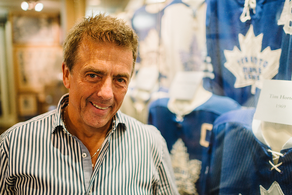 (Photo Series) Mike Wilson inside his personal museum of Toronto Maple Leafs hockey collectibles. Wilson owns the largest collection of authentic Toronto Maple Leafs memorabilia as well as other unique hockey collectibles like Wayne Gretzky's script from his Saturday Night Live appearance. - The Toronto Star