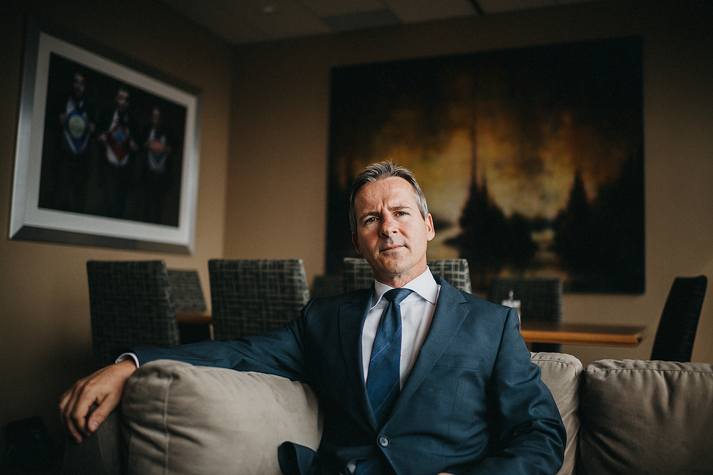 Critical injury lawyer Patrick Brown seen inside the Mcleish Orlando law firm.Brown is raising awareness about the lack of regulations at extreme sport facilities around the city.  - The Toronto Star