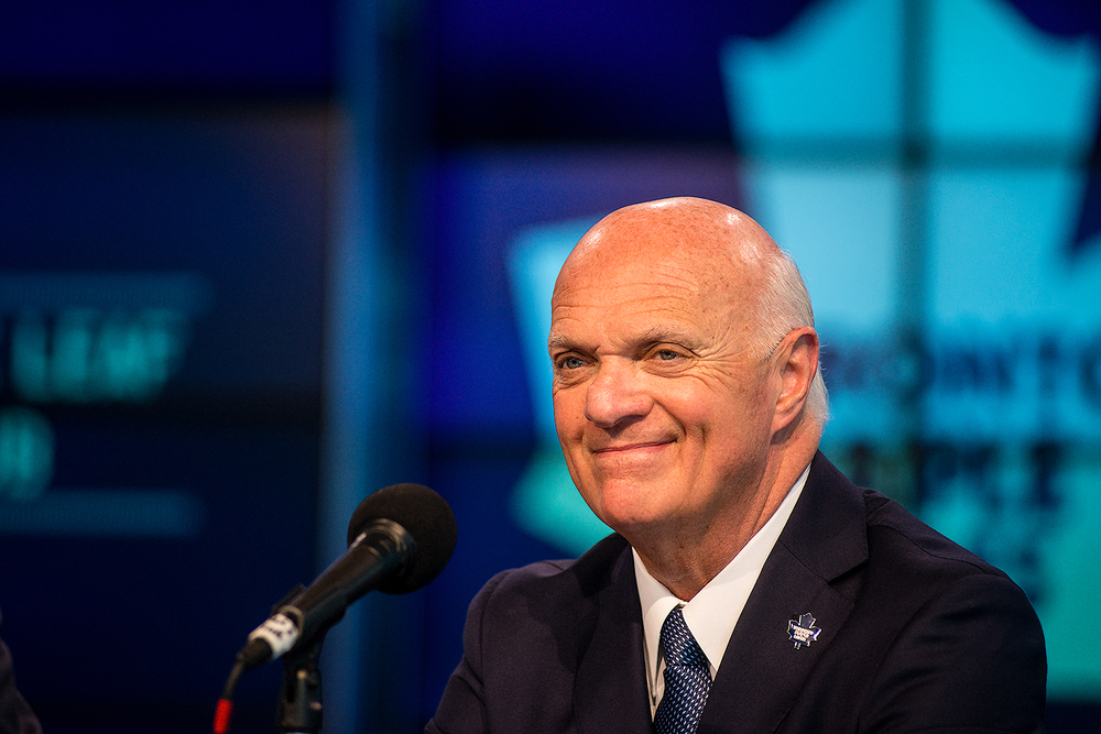 Newly appointed Toronto Maple Leafs General Manager Lou Lamoriello addresses the media at the Air Canada Centre on July 23. 2015.  - The Toronto Star