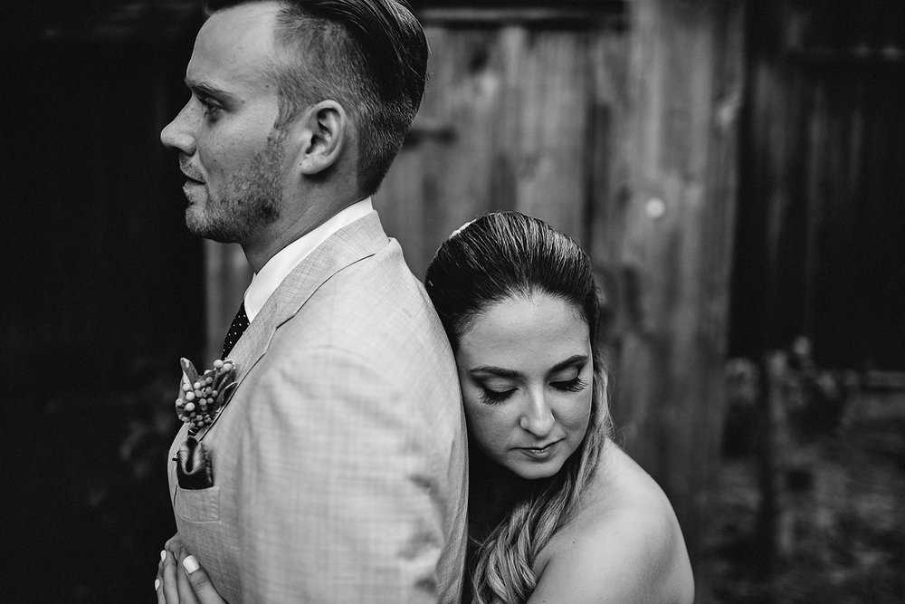 Toronto Ontario wedding photographer 3B Photography at Black Creek Pioneer Village intimate wedding portrait of couple moody and alternative style