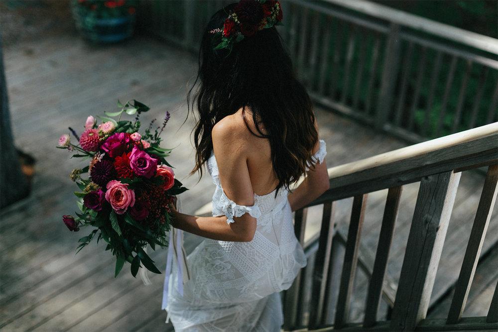 Toronto-Wedding-Photographer-Muskoka-Wedding-Lakeside-Forest-Theme-Boho-Bride-Vintage-wedding-getting-ready-dress-detail-entrance.jpg