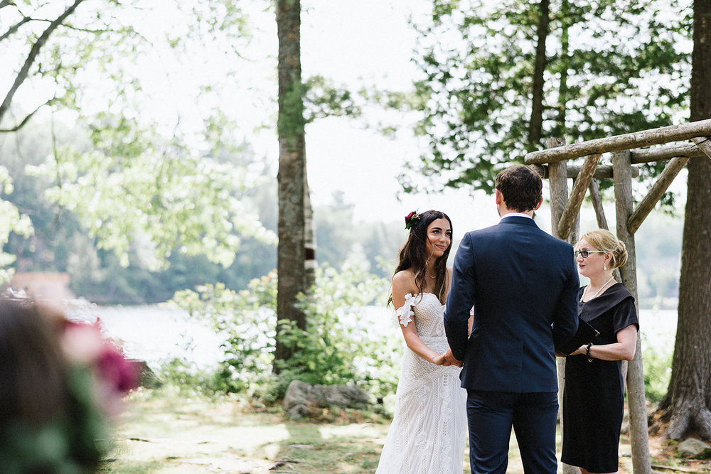 Muskoka-Cottage-Wedding-Photography-Photographer_Photojournalistic-Documentary-Wedding-Photography_Vintage-Bride-Forest-Wedding-Ceremony-Venue-Bride-Crying.jpg
