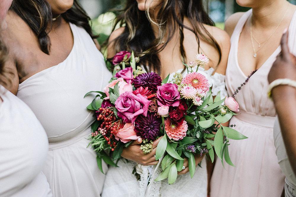Muskoka-Cottage-Wedding-Photography-Photographer_Photojournalistic-Documentary-Wedding-Photography_Vintage-Bride-Lovers-Land-Dress_Rue-Des-Seins_Bridal-Portrai-Boho-Bride-Flower-and-Dress-detail.jpg