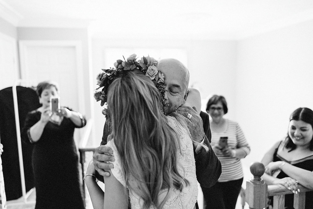Best-Toronto-Wedding-Photographers-3B-Photography-Fine-Art-Documentary-Wedding-Photography-Vintage-Boho-Bride-Doctors-House-Bride-Candid-Natural-Moment-Bride-first-look-with-father-hugging-moment.jpg
