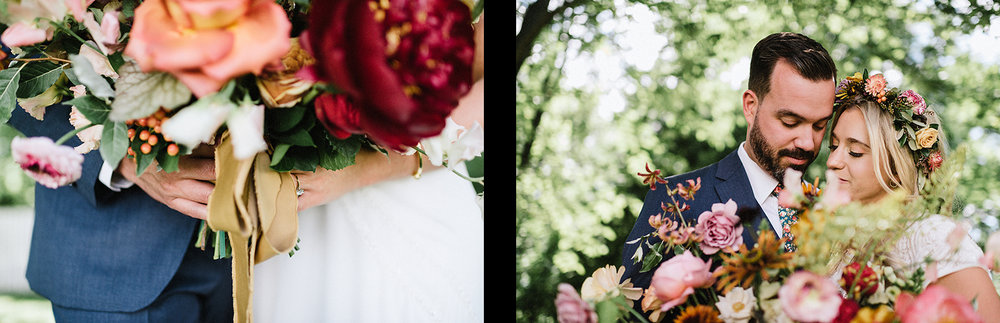 13-Bride-and-Groom-Boho-Aesthetic-Toronto-Wedding-Photography-Summer-Vintage-Wedding-Portraits-in-Forest-Hunt-and-Gather-Florals-Toronto-Intimate-Moment.jpg