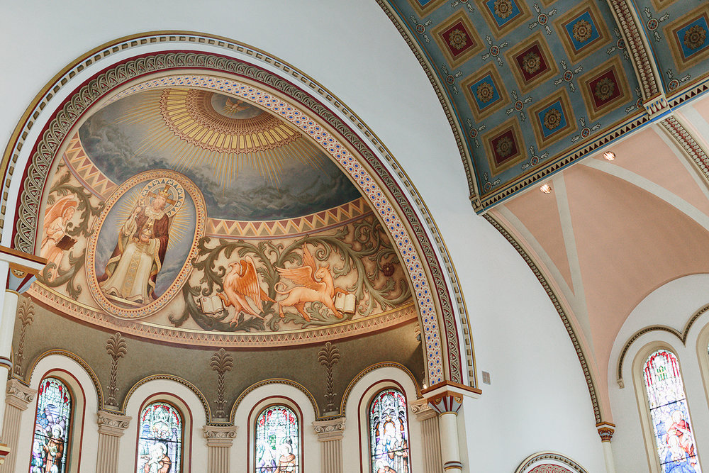 Church-Ceremony-downtown-toronto-bloor-west-Vintage-Wedding-Groom-and-Bride-Candid-Photojournalism-Documentary-Wedding-Photographers-Toronto-details-beauitful-ceiling-murals-church-inspiraiton.jpg