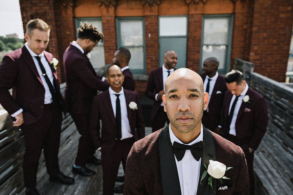 CHurch-Ceremony-Window-Light-Plant-Detail-Vintage-Wedding-Groom-and-Bride-Candid-Photojournalism-Documentary-Candid-Bride-and-groom-intimate-Portraits-Gladstone-Hotel-Groom-and-his-boys.jpg