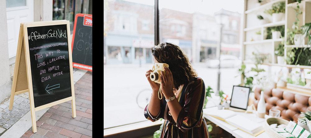 26-film-analog-photography-toronto-film-wedding-photographers-alternative-reception-bar-pray-tell-cocktail-hour-reception-on-the-patio-casual-guests-polaroid-huestbook.jpg