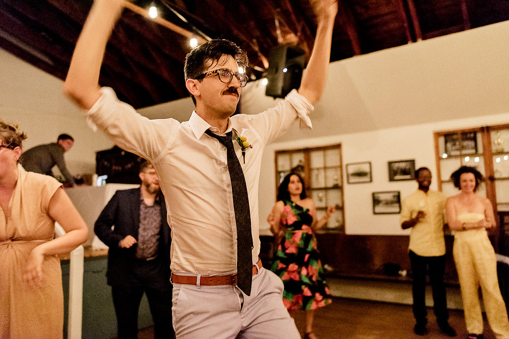 Best-Wedding-Photographers-in-Toronto-with-Photojournalistic-Documentary-Style-3B-Photography-Brian-Batista-Bettencourt-Intimate-Vintage-Wedding-at-Toronto-Island-Cafe-Clubhouse-Reception-Groom-Dancing.jpg