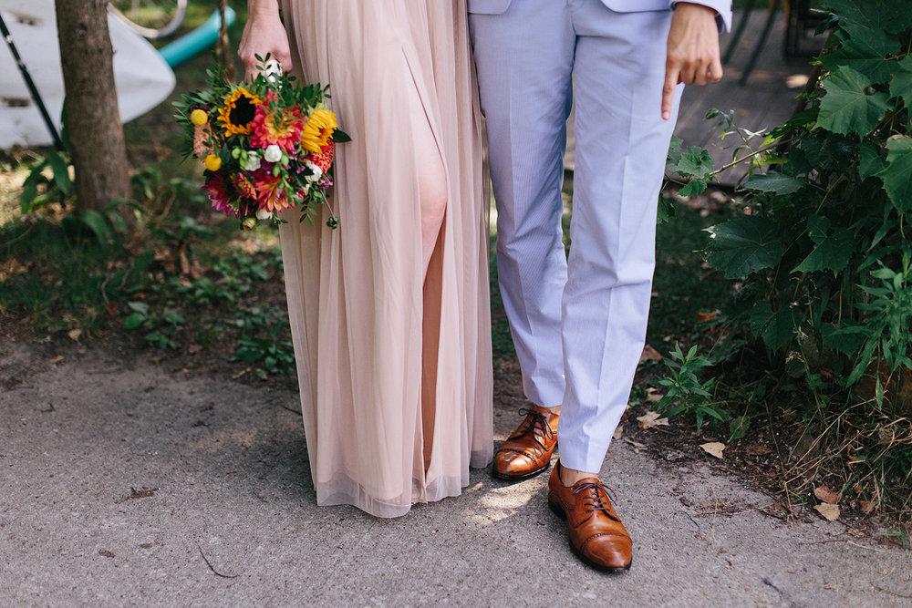 Best-Photographers-in-Toronto-Analog-Film-Toronto-Island-Wedding-Wards-Island-Clubhouse-Venue-small-intimate-hipster-alternative-couple-blush-dress-light-blue-suit.jpg