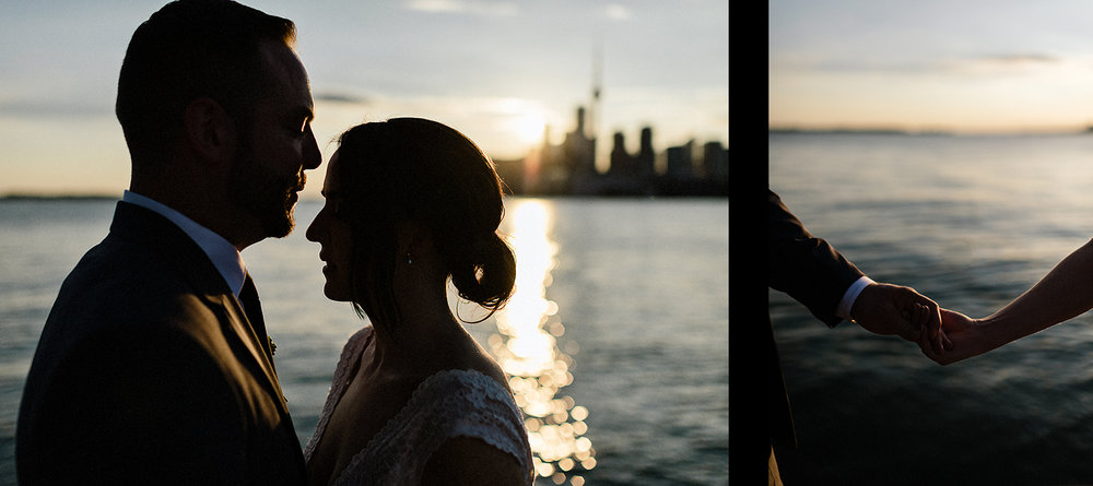 31-Best-Wedding-photographers-Toronto-NAtural-Candid-wedding-photography-Airship37-Sunset-Portrait-bride-and-veil-sunset-golden-light-toronto-skyline-portraits-candid-intimate-wedding-candid-golden-light-on-hands.jpg