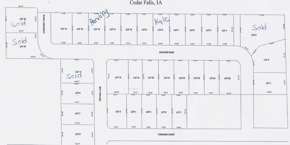 PHASE 6 LOTS. Call (319) 266-6609 Today!