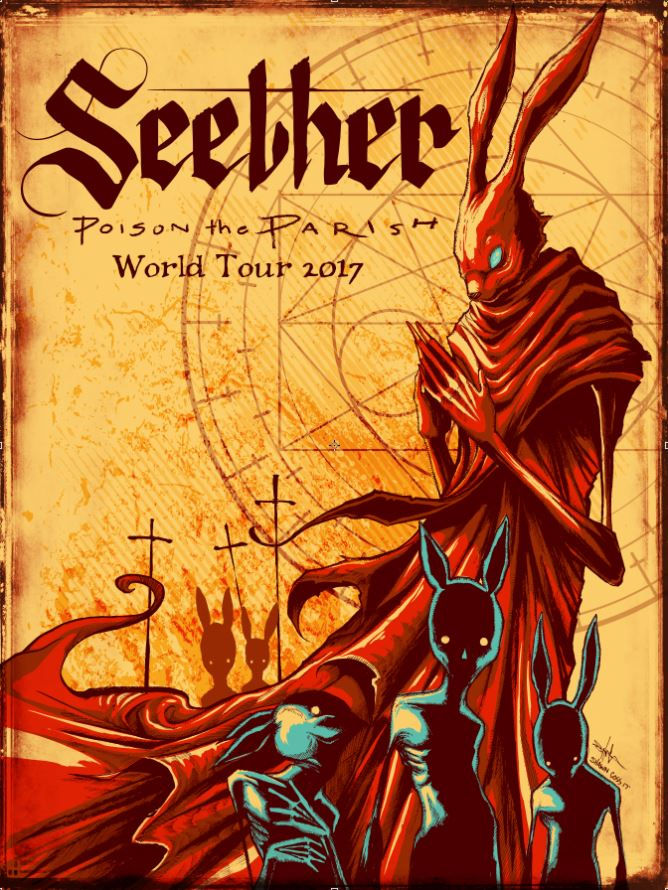 Seether Poison the Perish Tour Poster