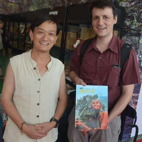 Mr Lin, I'm deeply touched by his commitment to Pu-erh tea, he travels more than 300 days a year through remote Yunnan tea mountains. Difficult to catch in person, but best source of Maocha news and master of blind tastings for origin sorting.