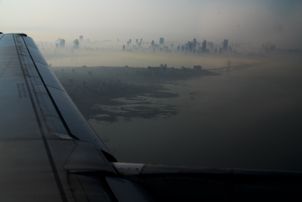 Mumbai to Nagpur   31 December 2015  The haze and air pollution of Mumbai gives imagery such a distinct look - as you can't help notice a warm hue over everything in the city.  The reality is the air quality is amoungst the worst in the developing world.