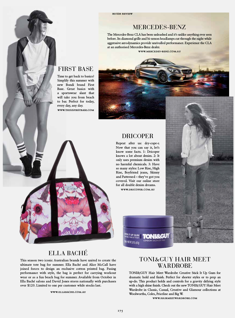 DriCoper denim in Russh Magazine