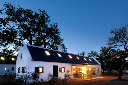 Babylonstoren cottage with glass kitchen