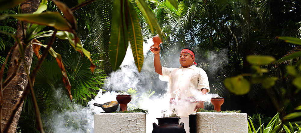 Mayan Blessing by Resident Shaman