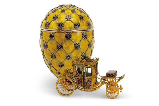 The Coronation egg, made to commemorate the coronation of Nicholas II