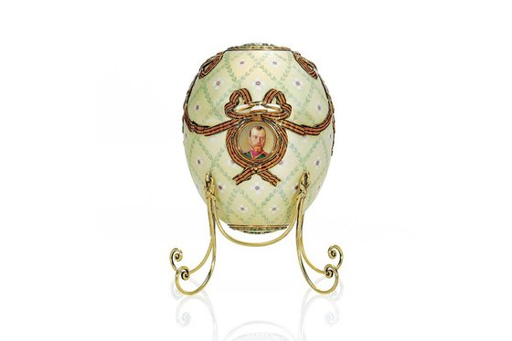 The Order of St George egg was a present from Nicholas II to his mother