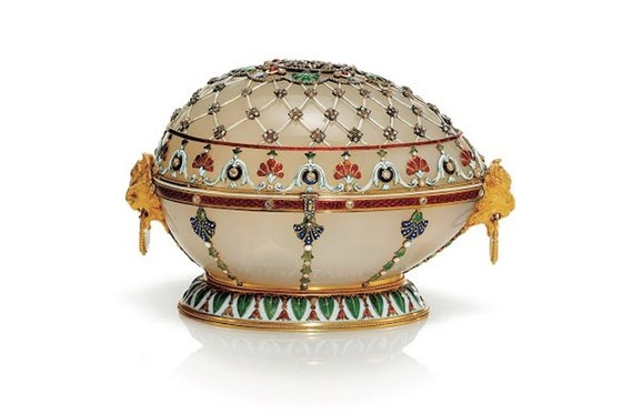 The Renaissance egg was made for Alexander III of Russia to give to his wife, Maria