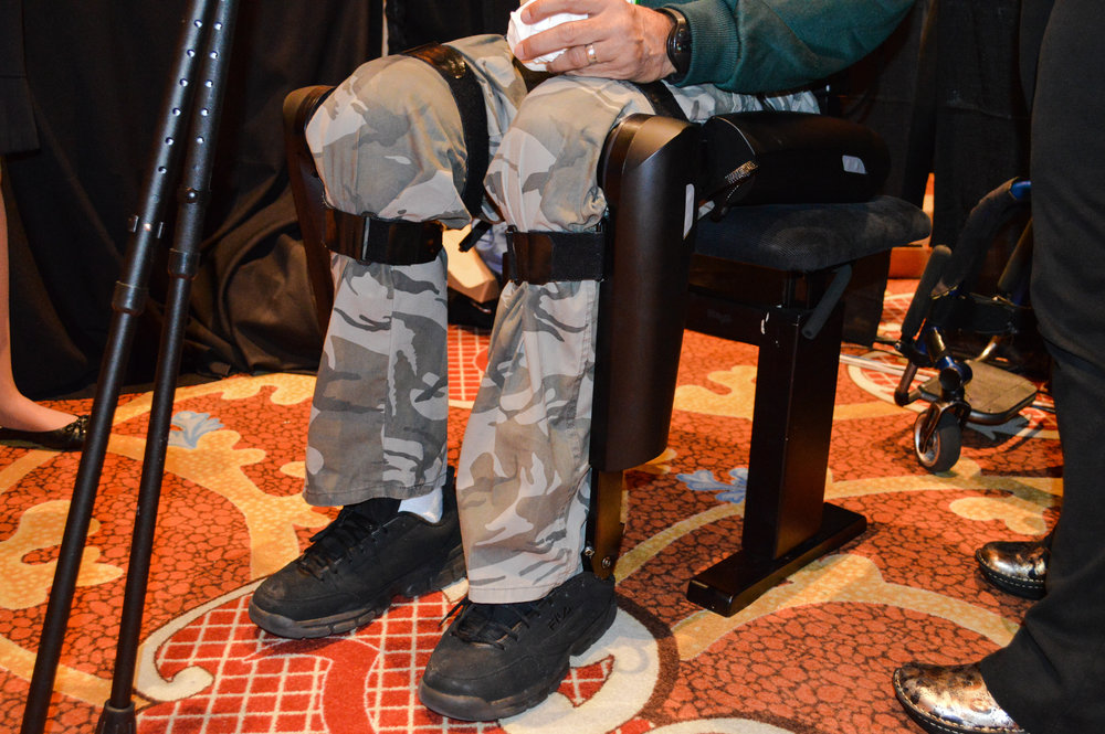 ReWalk robotic exoskeleton looks like science-fiction, helps paraplegics walk again - Plenty of companies at CES claim to offer life-changing technology. ReWalk Robotics actually does.