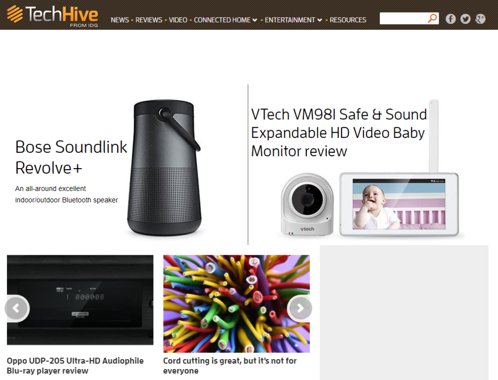TechHive - TechHive is a consumer tech website with a focus on lifestyle tech, such as wearables, apps, audio, and fitness gear. I have been writing for TechHive since its inception in 2012. I cover fitness tech, beauty tech, and audio (mainly headphones).Scroll down for a selection of clips, or click here to see all of my work for TechHive.