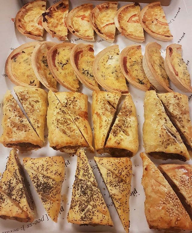 We have been busy bees 🐝 this week making hunners of savoury tarts & sausage rolls. Well they are amazing! #piece #glasgowfood #delish #tgif