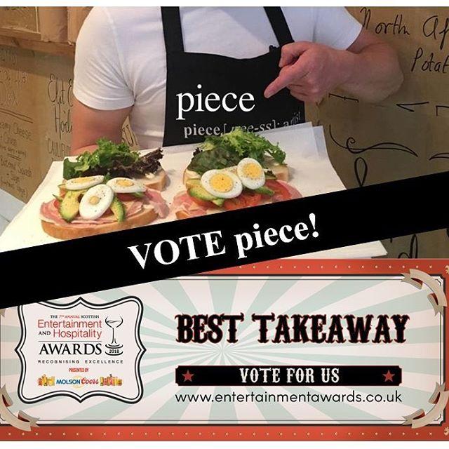 V O T E 😎 #pieceglasgow #votepiece