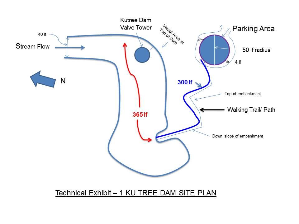 Sketch:  Ku Tree Dam Site Plan