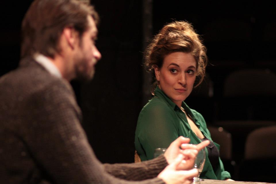 Philip Desmeules as Fritjof and Abigail Andjel as Clare in  The Earthworks.
