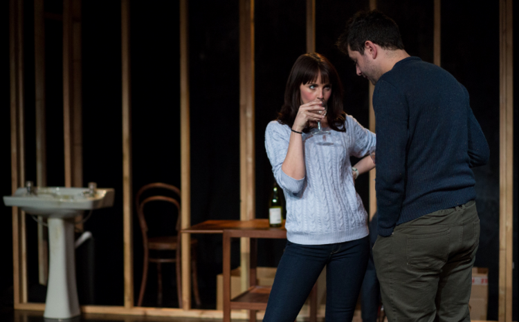 Natalie Grady as Kelly and Benjamin Blyth as Linus in  In Doggerland.  Photo by Devin Ainslie.